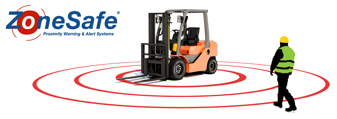 ZoneSafe Logo and Forklift Render