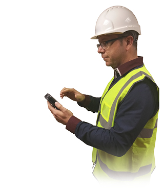 AssetBase iD Man with handheld scanner