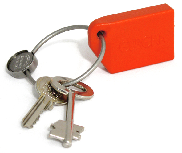 Eureka Key tag on keyring